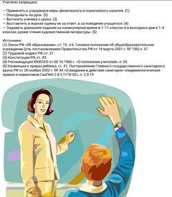 право учителя может делать учитель школе привлечение рано